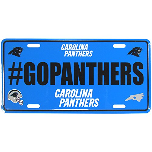 NFL Carolina Panthers Hashtag License Plate