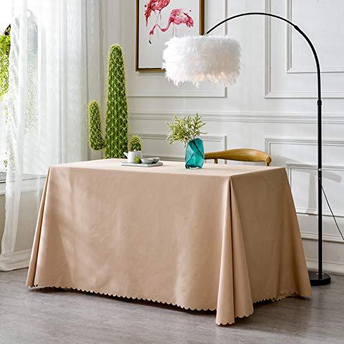 XQSSB Manteles de Mesa Rectangular Efecto para Cocina Durable para Salón Cocina Comedor Decoración de Mesa Marrón 180 × 260cm