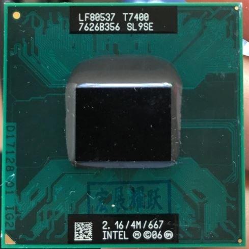 Intel Core 2 Duo T7400 Mobile Merom Tray CPU Core 2 Duo 2160 MHz Socket 478 μFCPGA 667 FSB 4096 KB 34 W B2