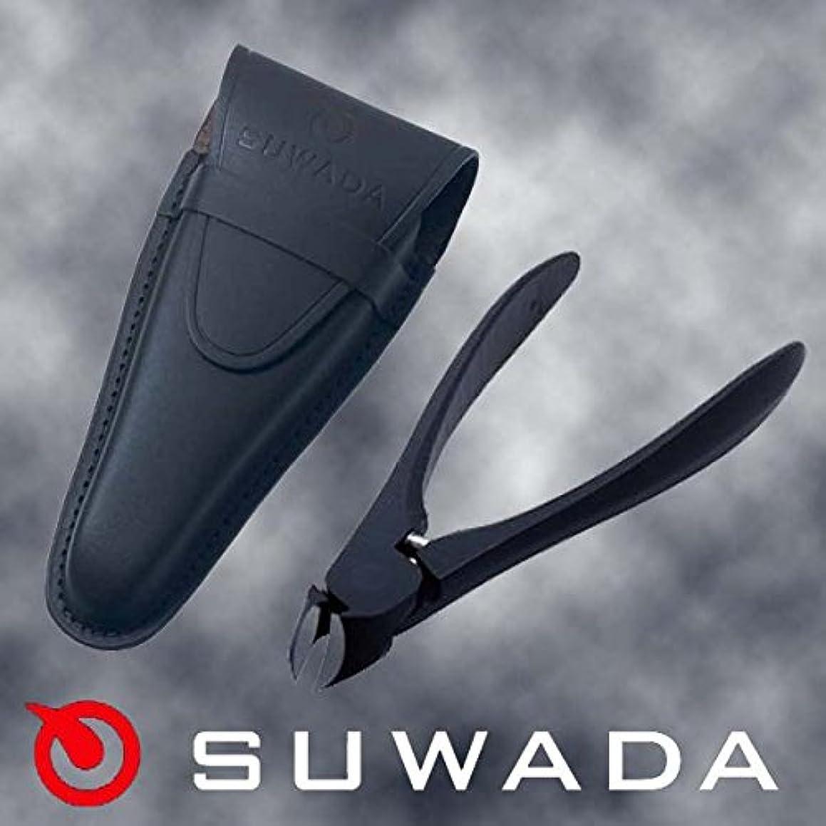 船尾吸収サミュエルSUWADA爪切りブラックL&ブラック革ケースセット 諏訪田製作所製 スワダの爪切り