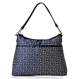 Tommy Hilfiger Womens Hobo Handbag Purse (Navy)