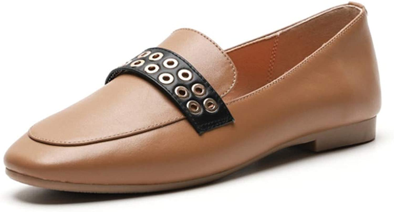 Mocassini Donna Summer classeic Square Toe Slip on Low Heel Walre Driving Flats sautope