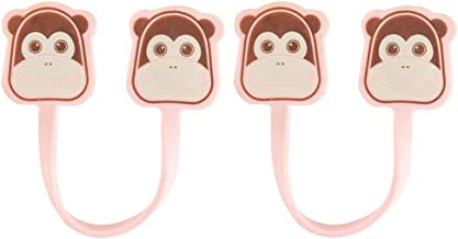 Hemobllo 2pcs Magnetic Twist Ties Cable Ties Cartoon Monkey Shape Cord Organizer Wire Wrap Headset Headphone Earphone Wrap Winder Cable Manager