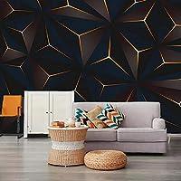カスタム3D写真の壁紙壁画ゴールドライン幾何学的なテクスチャリビングルームソファベッドルームテレビ家の装飾背景壁現代-280X180CM