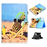 Case for 10.9 inch iPad Air 4th Generation Case 2020 with Pencil Holder,Shinyzone Ananas Pattern Magnetic Clasp Smart Auto Wake Sleep Cover,Multi-Angles Folio Stand Function