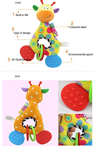 milkcha Newborn Baby Infant Animal Soft Rattles Teether Hanging Bell Plush Bebe Toys Toys and Hobbies Education