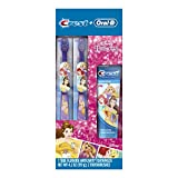Oral-B and Crest Kids Pack Featuring Disney's Princess Characters, Kids Fluoride Anticavity Toothpaste and Two Toothbrushes