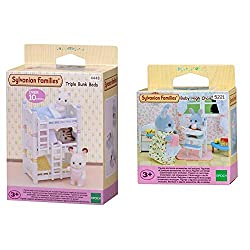 Product 1: Basic furniture for your Sylvanian family home Product 1: Lovely three beds for Sylvanian babies Product 1: They can be stacked on top of each other or placed side by side Product 1: Stimulating imaginative role-play in children Product 2:...