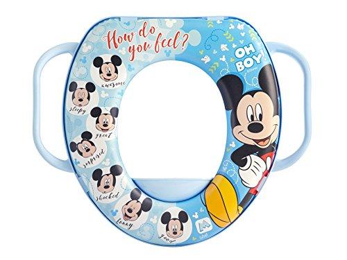 Lulabi 8014 - Reductor de WC Disney Mickey 3 con mango de plástico y PVC, multicolor