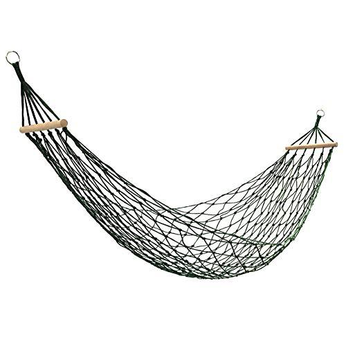 Nylon Touw Hangmat, Camping Hangende Swing, Kan Dragen 120KG Soft & Duurzaam Grote Maat Hanging Bed Met Stok Voor Garden Patio Portaal