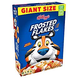 Kellogg's Frosted Flakes Cereal - Sweet Breakfast that Lets Your Great Out, Fat-Free, Giant-Size, 33