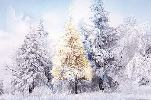 1art1 Weihnachten - Im Verschneiten Winterwald XXL Poster 120 x 80 cm