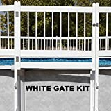 Doheny's Protect-A-Pool Fence for Above Ground Pools   Provides A New Level of Security to Above Ground Pool Safety!   Fits Most Pools - Regardless of Shape (Gate Kit, White)
