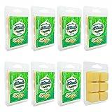 Set of 8 Citronella Wax Melts, Natural Soy Wax Cubes, Yellow Lemongrass Wax Tarts, Summer Necessities