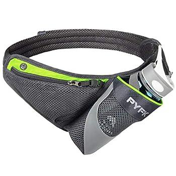 PYFK Running Belt Hydration Waist Pack with Water Bottle Holder for Men Women Waist Pouch Fanny Bag Reflective  Green