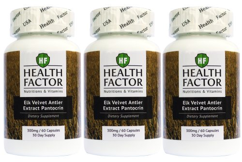 Elk Velvet Antler Extract for Dogs - Joint Supplement, Bone Support (3 Bottles, 180 Capsules)