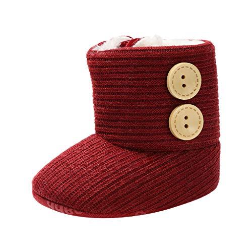 Jaysis Winter Warm Schuhe Kinder Wildlederschuhe Schuhe Weiche Sohle Turnschuhe Freizeitschuhe Lauflernschuhe Einfarbig Button Mode Kinderschuhe Babyschuhe