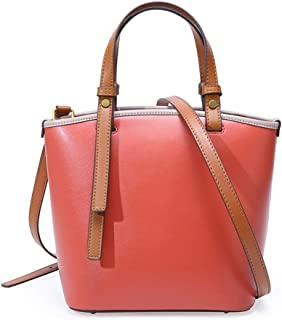 Runhuayou New Fashion Simple and Various Constrict Bills Shoulder Slung Leather Handbags Great for Casual or Many Other Occasions Such (Color : Red)