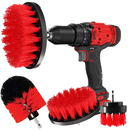 CLEANZOID Drill Brush Set Attachment Kit Pack of 3 - All Purpose Power Scrubber Cleaning Set for Grout, Tiles, Sinks, Bathtub, Bathroom and Kitchen Surface