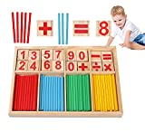 Juguete matemático Montessori, Madera de Juguete matemático, Regla de Juguete matemático, Juego de Aprendizaje numérico, Juguete matemático Educativo para niños 3 4 5