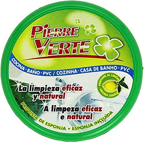 Passat Pierre Verte Producto de Limpieza Multiusos 200gr, Esponja de limpieza para todo tipo de superficies, Limpiador de hogar aroma Limón