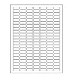 White Rectangular Labels + Bonus Color Labels - Value Pack- White Coding Labels Produce Excellent Results with Standard Laser Printer-Template Included! 1660 Pack
