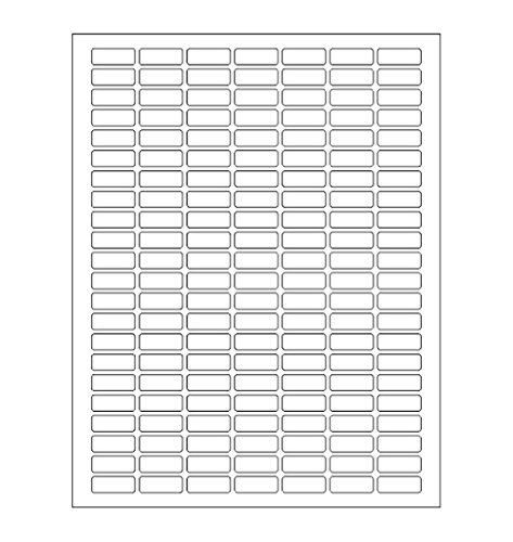 White Rectangular Labels + Bonus Color Labels - Value Pack - White Coding Labels Produce Excellent Results with Standard Laser Printer-Template Included! 1138 Pack