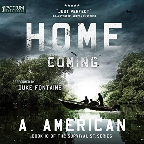 Home Coming     The Survivalist Series, Book 10              Auteur(s):                                                                                                                                 A. American                               Narrateur(s):                                                                                                                                 Duke Fontaine                      Durée: 9 h et 23 min     16 évaluations     Au global 4,7