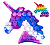 Juguete Antiestrés Pop It Sensorial de Explotar Burbujas Push Pop Bubble Fidget Toy Herramienta para aliviar el Estrés y la Ansiedad para Niños y Adultos Unicornio Rosa