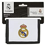 Safta- Cabecera de Real Madrid Accesorio de Viaje- Billetera, Color Blanco/Negro, 125xx95 mm (812054036)