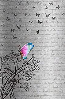 Butterfly Journal: Peaceful Delicate Black Butterfly Journaling Background Self Help Blank Journal To Write In