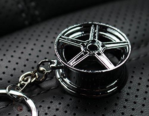 boost-key.com Felge Silber-Chrom #77 Schlüsselanhänger - massiver Anhänger - von VmG-Store OEM VAG Dub
