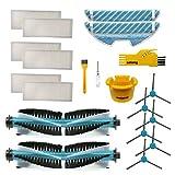 Accesorios para Cecotec Conga 1390 1290 Robot Aspirador Repuestos Paquete de 2 cepillos Principales, 6 filtros Hepa, 6 cepillos Laterales, 2 Trapos de Limpieza, 2 Herramientas de Limpieza