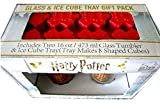 Harry Potter Set of 2 Pint Glasses & Hogwarts Ice Cube Tray Gift Pack