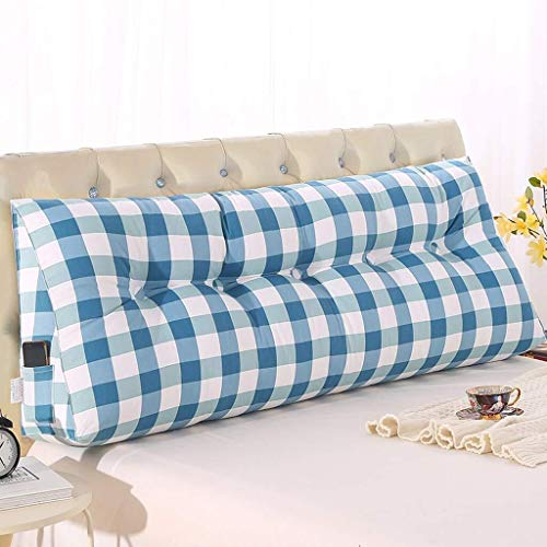 Dongy Triángulo de Noche Cojín Cama Tatami cojín Grande Volver cojín del sofá de la Cintura Almohada extraíble y Lavable (Color : C, Size : 150cm)