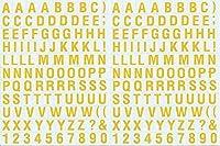 (シャシャン)XIAXIN 防水 PVC製 アルファベット ステッカー セット 耐候 耐水 数字 キャラクター ミニサイズ 表札 スーツケース ネームプレート ロッカー 屋内外 兼用 TSS-105 (2点, レッド)