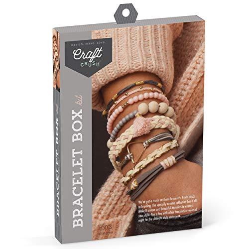 Craft Crush – Bracelet Box Kit – Craft Kit Makes 8 DIY Bracelets...