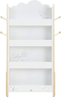 labebe Baby Bookshelf Wood for Nursery 1 Year Up, Children Book Shelf Organizer Wooden, Kids Bookcase and Toy Storage 4-Ladde