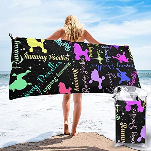 CERYS RILEY Poodles - Toallas de playa de secado rápido, toallas de playa sin arena, toalla de baño portátil, toalla de playa de viaje, toalla de playa para deportes al aire libre, accesorios de playa
