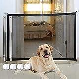 Puerta Mágica para Perros,Puerta mágica para Mascotas o bebés,Barrera Seguridad Perros,Barrera para Perro,Portón portátil y Plegable para Separar bebés y Mascotas