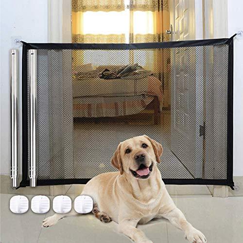 Absperrgitter Hund 180 * 72cm Treppenschutzgitter T/ürschutzgitter Hund Hundebarrieren Faltbar Trennwand Installieren /überall f/ür Hunde Katzen Hundeschutzgitter