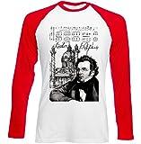Photo de teesquare1st Men's Franz Schubert Composer Red Long Sleeved T-Shirt Size XXLarge