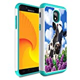 Galaxy j3 2018/J3 Achieve/Express Prime 3/j3 Star/J3 V 3rd Gen 2018/j3 Orbit case,Skyfree Heavy Duty Dual Layer Bumper Protective Phone Case for Samsung Galaxy J3 2018,Colorful Cow