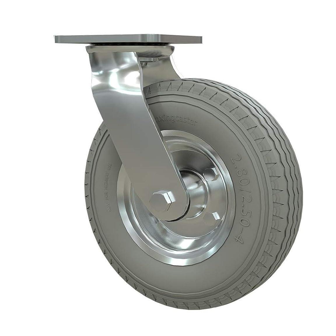 磁石阻害する講義耐久性の高いユニバーサルホイール 天板キャスター付きヘビーメタルキャスター8インチポリウレタンスイベル車輪のノイズ?フリーホイール4パック 幅広い用途 (色 : グレー, Size : 8in)