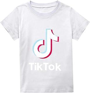 TikTok Camiseta de algodón de Manga Corta para niños 2-16 años Ropa de niños de Manga Corta-Amarillo_100cm: Amazon.es: Ropa y accesorios