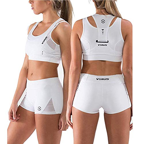 Virus ECO31 Stay Cool Elite Crop Tank - White (White, Large)