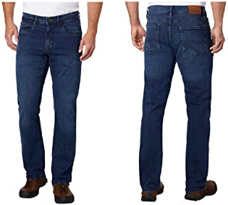 Urban Star Premium Apparel Hand Treated Men's Blue Jeans 38 X 34 Stretch Relaxed Fit Straight Leg