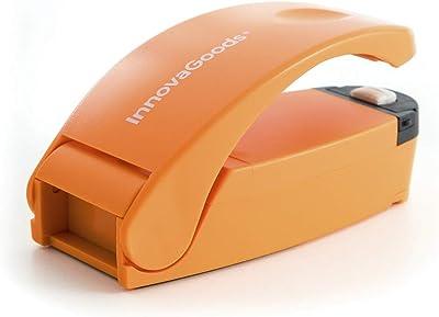 InnovaGoods - Selladora Manual de Bolsas con Cúter e Imán, Diseño Portátil Compacto, Para Cerrar Herméticamente Bolsas de Alimentos Selladora de papas