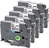 MarkFieldkompatible Schriftband als Ersatz für Brother P-touch TZe-231 TZ231 12mm Etikettenband für PT-1010 PT-1080 PT-h75 PT-h101c PT-H100LB/R, H105, E100/VP, D200/BW/VP, D210, schwarz auf weiß
