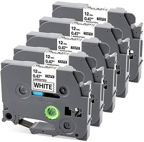 Nastro per Etichette MarkField Compatibile In sostituzione di Brother P-touch TZe-231 TZ231 Nero su Bianco per Brother P touch PT-1000 PT-1010 1090 1830VP 2030VP 2100VP, 12mm x 8m